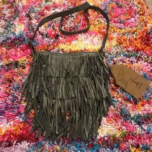 Green Fringe Purse